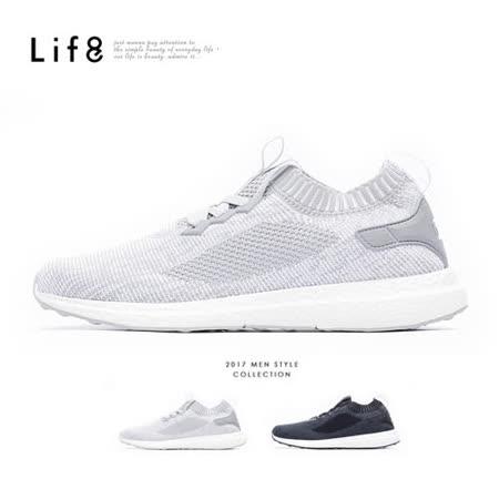 【Life8】Sport 超輕量 飛織布 彈力運動鞋