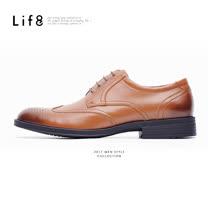 【Life8】Formal 頭層牛皮 輕量 牛津雕花零重力機能休閒皮鞋-09715-咖啡