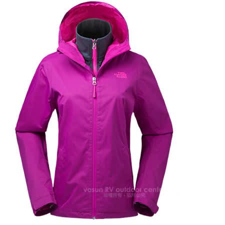 美國 The North Face 女款 防風防水兩件式外套