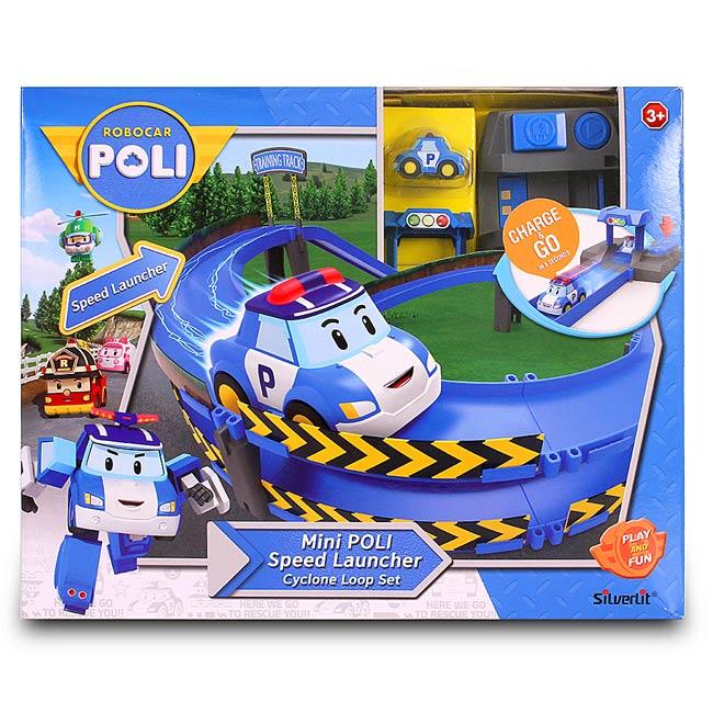 【波力POLI救援小英雄】迷你波力特技軌道系列-龍捲風彎圈組 RB83385