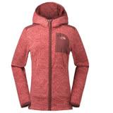 【美國 The North Face】女新款 超輕量時尚連帽保暖刷毛外套/夾克(可當中層衣)/亞洲版型.運動型修身剪裁/2Y2S 紅 N