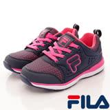 FILA頂級童鞋--襪套式慢跑款-805R-332藍桃-(20cm~24cm)