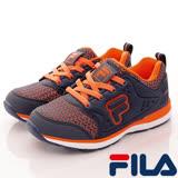 FILA頂級童鞋--襪套式慢跑款-805R-336藍橘-(20cm~24cm)