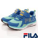 FILA頂級童鞋--運動慢跑款-801R-369藍綠-(20cm~24cm)
