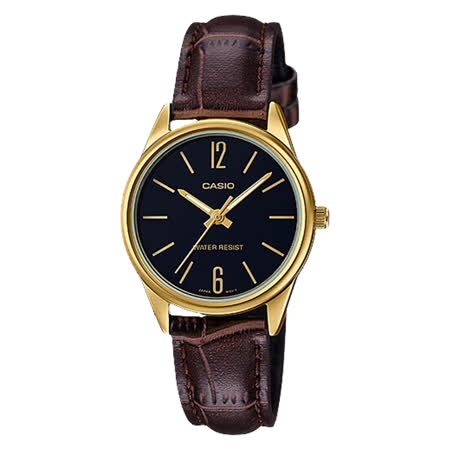 CASIO 皮革錶帶 防水指針女錶