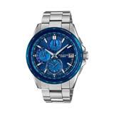 CASIO OCEANUS系列 蔚藍格調六局電波功能鈦金屬優質腕錶-藍-OCW-T2610F-2A