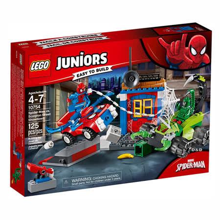 樂高積木 LEGO《 LT10754 》Junior 初學級系列 - Spider-Man vs. Scorpion Street Showdown