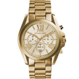 Michael Kors 漫步羅馬三眼計時腕錶 MK5605 金色