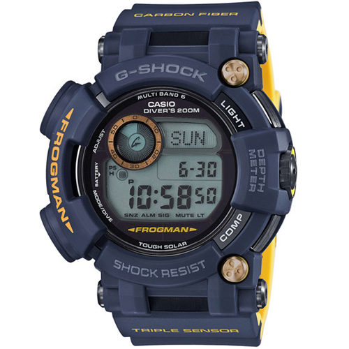 CASIO卡西歐G-SHOCK MASTER IN NAVY BLUE海軍藍蛙人潛水錶  GWF-D1000NV-2