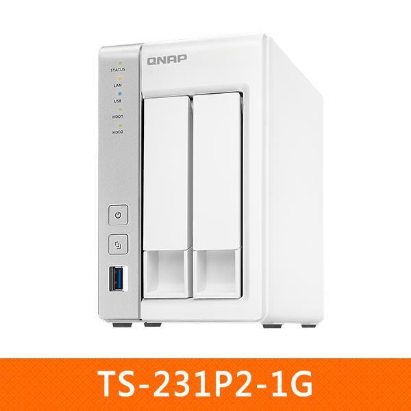 QNAP TS-231P2-1G  搭哪嘶狼2TB X 2