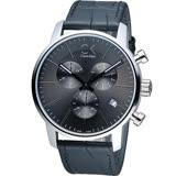 Calvin Klein 城市經典簡約石英計時腕錶 K2G271C3 灰