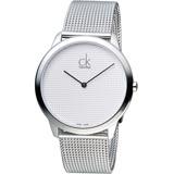 Calvin Klein 經典歐美潮流米蘭編織腕錶 K3M2112Y 白