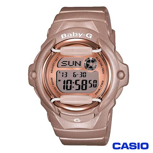 CASIO Baby-G輕漾時尚玫瑰金腕錶 BG-169G-4