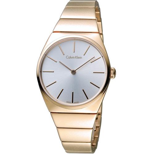 Calvin Klein Supreme系列極簡手鍊腕錶 K6C2X646 玫瑰金色
