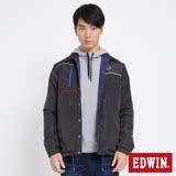 EDWIN 包浩斯雙面穿極簡線條舖棉外套-男-黑灰色