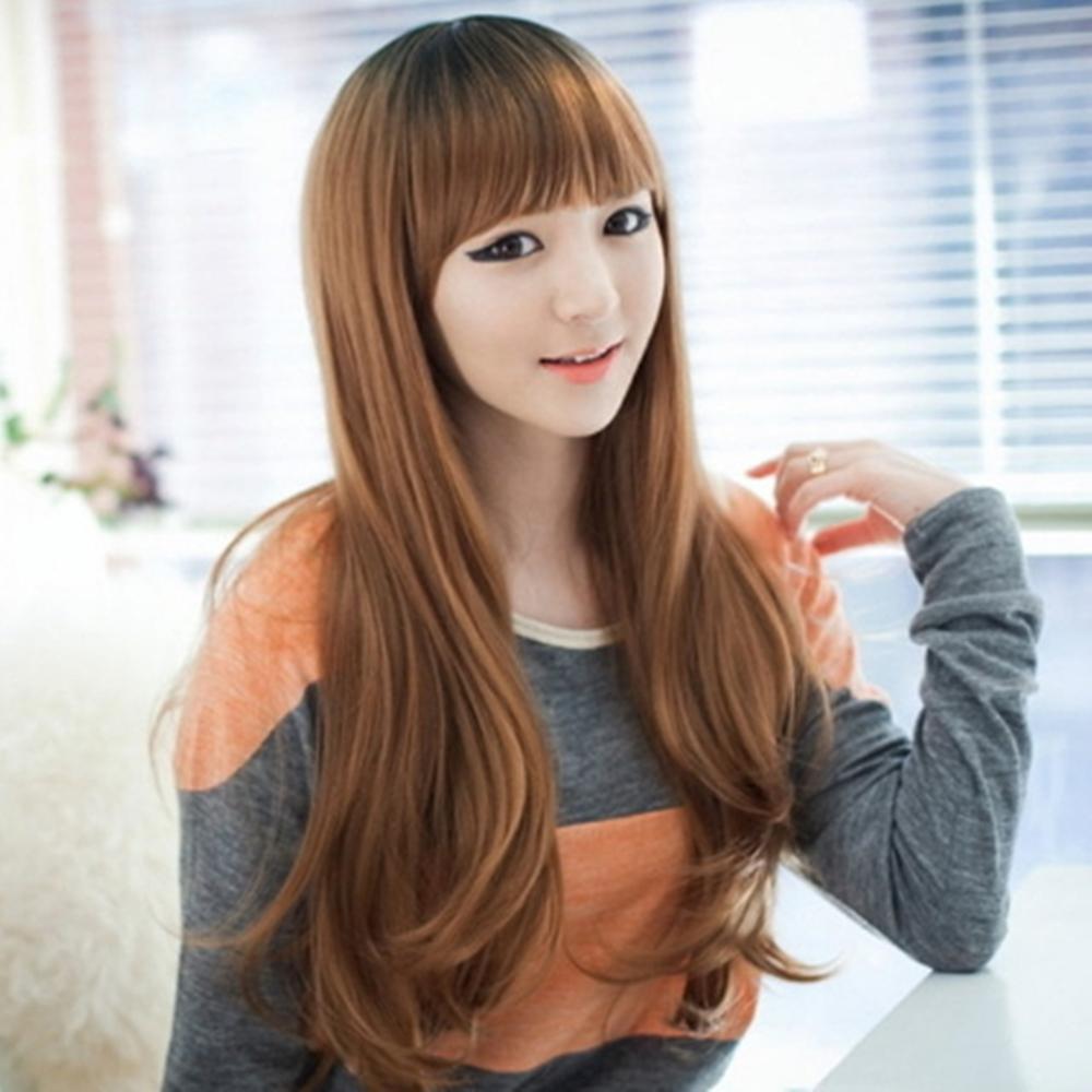 女假髮整頂假髮長假髮-日系齊瀏海大波浪捲流行女美髮用品3色69o43【米蘭精品】