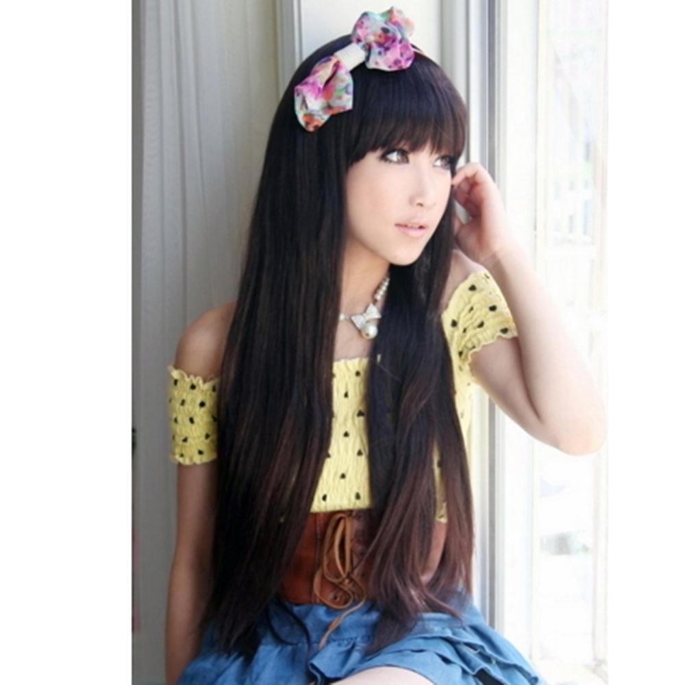 女假髮整頂假髮長假髮-時尚氣質及腰長直髮女美髮用品3色69o48【米蘭精品】