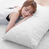 J-bedtime【幻彩純白】枕頭專用-防汙防塵保潔枕墊(2入)