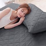 J-bedtime【幻彩深灰】枕頭專用-防汙防塵保潔枕墊(2入)