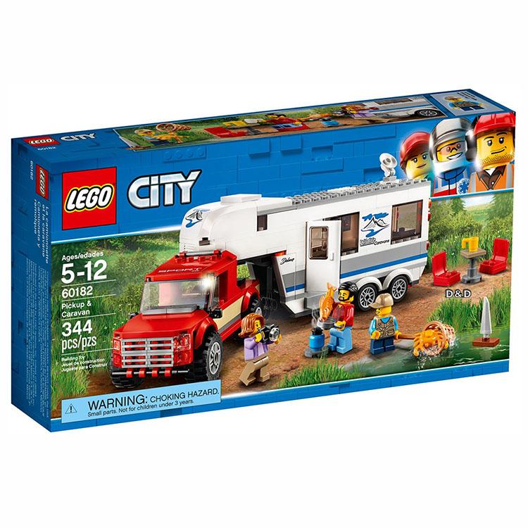 樂高積木 LEGO《 LT60182 》City 城市系列 - 皮卡車及露營車