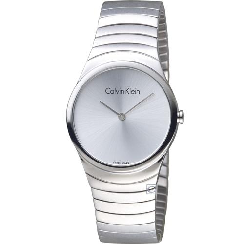 ck Calvin Klein 極簡石英錶  K8A23146  白