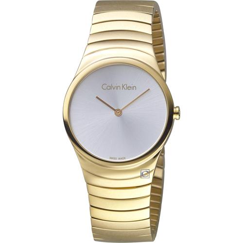 ck Calvin Klein極簡石英錶  K8A23546  金色