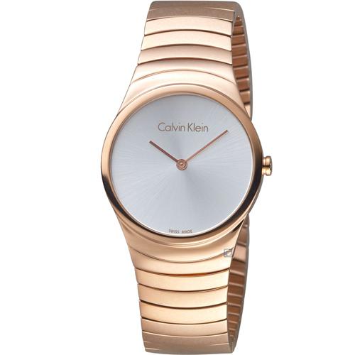 ck Calvin Klein極簡石英錶 K8A23646  玫瑰金色