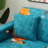 挪威森林 小王子的狐狸舒適彈性沙發套/沙發罩/單人座-贈1個抱枕套