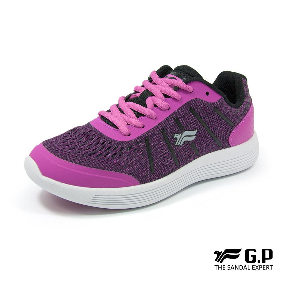 【G.P 女款經典休閒舒適輕量運動鞋】P5772W-45 桃紅色 (SIZE:36-40 共三色)