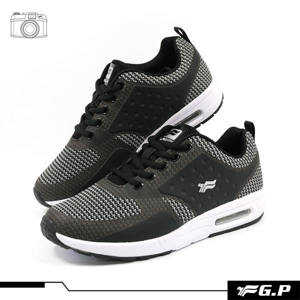 【G.P 男款經典舒適輕量氣墊運動鞋】P5770M-10 黑色 (SIZE:39-44 共二色)