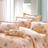 Carolan花卉 雙人五件式精梳棉兩用被床罩組