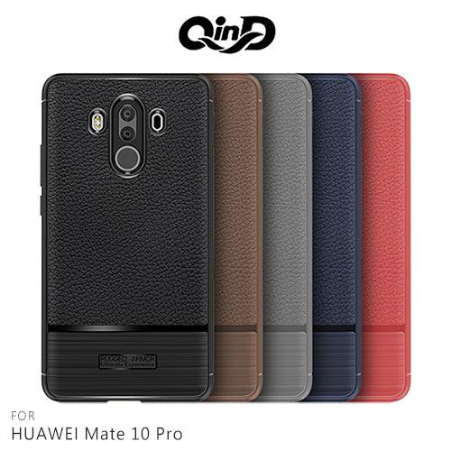 QinD HUAWEI Mate 10 Pro 荔枝紋矽膠套