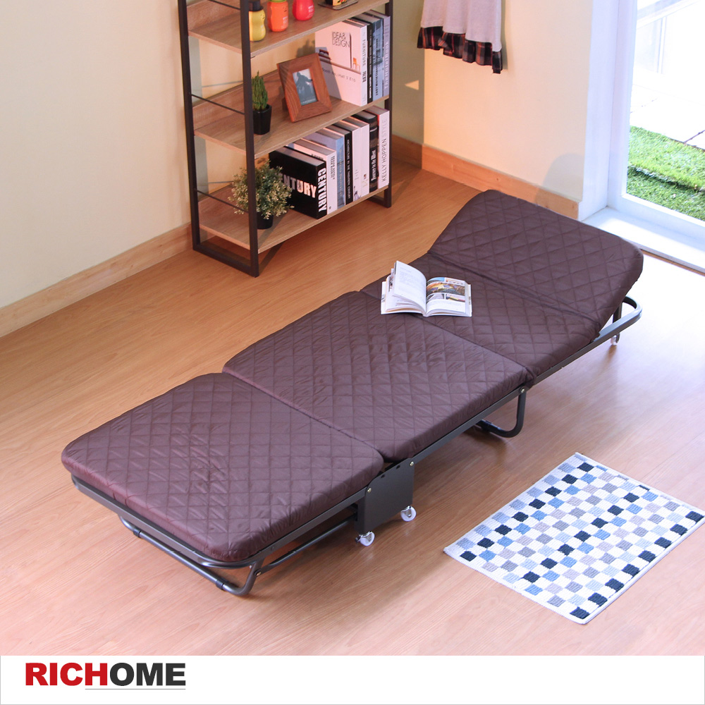 布套可拆洗 輕便六段附輪折疊床