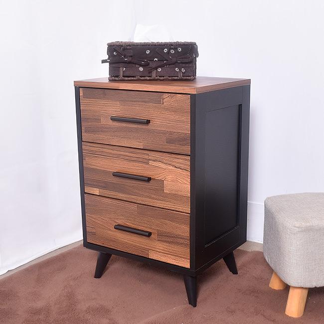 凱堡 工業風三抽櫃 斗櫃/收納櫃/床頭櫃
