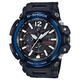 【CASIO 卡西歐】G-SHOCK 衛星電波藍芽飛行錶-黑x藍/GPW-2000-1A2