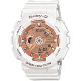 CASIO 卡西歐 Baby-G 人氣經典率性手錶-玫瑰金x白 BA-110-7A1