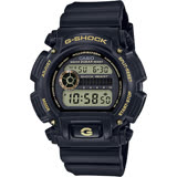CASIO卡西歐 G-SHOCK 80年代復刻電子錶-黑金 DW-9052GBX-1A9DR