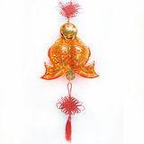 【摩達客】農曆春節特選◎百福雙魚 LED燈串吊飾 (附控制器)