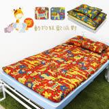 【KOTAS】冬夏透氣床墊 單人 3尺 送記憶枕1顆 記憶枕 單人床墊-動物派對-紅