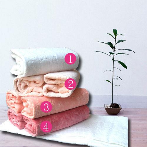 HOYA Style超柔純棉壓紋枕巾 2入 ~淺色系