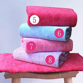 HOYA Style超柔純棉壓紋枕巾(2入)-粉色系