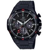 【CASIO 卡西歐】EDIFICE 極速感太陽能計時腕錶-黑/EQS-800CPB-1A