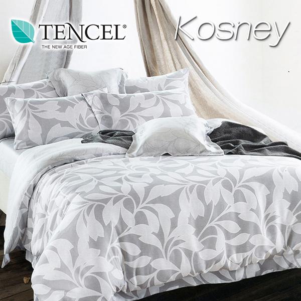 《KOSNEY 和味》特大100%天絲TENCEL四件式兩用被床包組