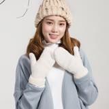 羊毛手套-兔毛雙層加厚連指女手套6色73or4【米蘭精品】