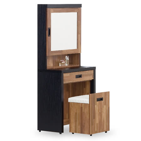 積層木2尺鏡台(含椅)