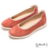 DIANA 漫步雲端焦糖美人款--知性霧感羊絨娃娃鞋-珊瑚紅