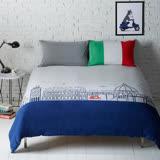 【YVONNE COLLECTION】義大利單人兩件式被套+枕套組-中灰