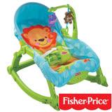 【費雪牌 Fisher-Price】可愛動物可攜式兩用安撫躺椅