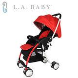 【美國 L.A. Baby】超輕量雙向全罩嬰幼兒手推車-紅 Travelight Baby Stroller