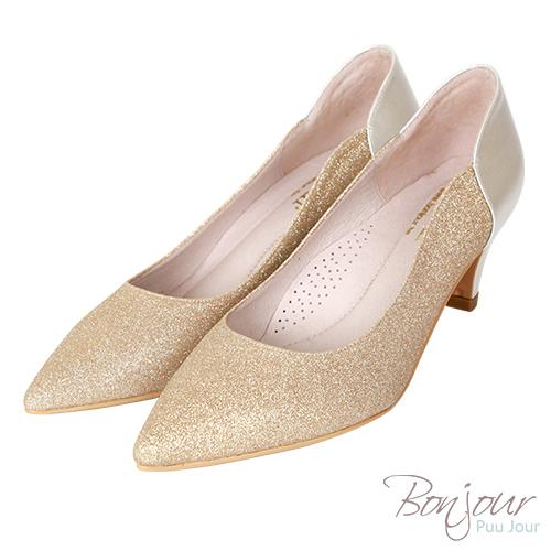 BONJOUR☆軟綿綿5cm好走氣墊尖頭高跟鞋Wedding shoes【ZB0310-5】金